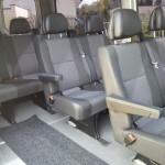 Unser neuer Kleinbus von innen